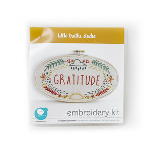 """Gratitude"" Embroidery Kit- Packaging"