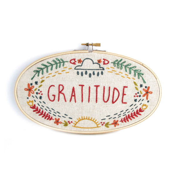 """Gratitude"" Embroidery Kit"