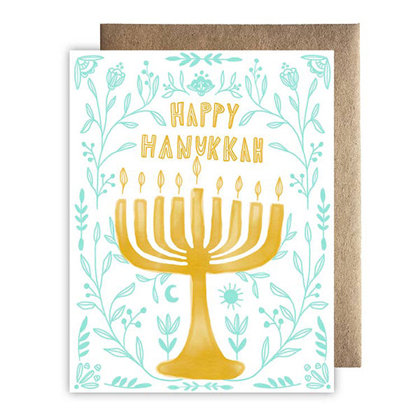 Happy Hanukkah Floral