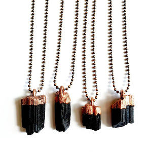 black tourmaline protection nechlace