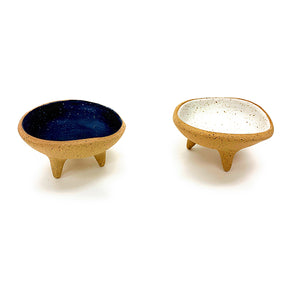 Blue and White Footed Incense Dish
