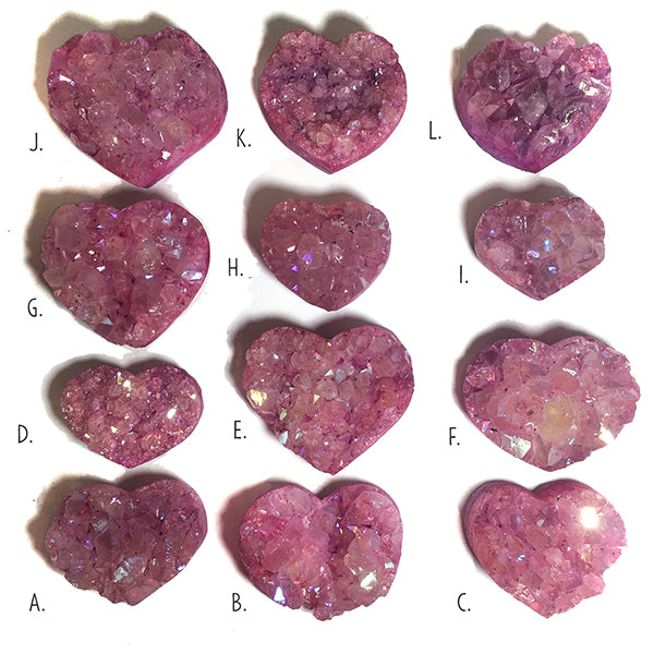 Pink heart crystal
