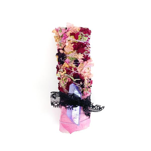 Rainbow Aura Quartz Spring Smudge Stick