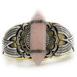 Guardian Rose Quartz Cuff