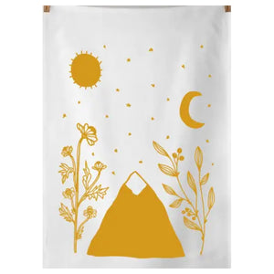 Golden Mountain Tea Towel
