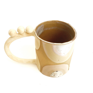 Artsy Ceramic Coffee Mug- Top View