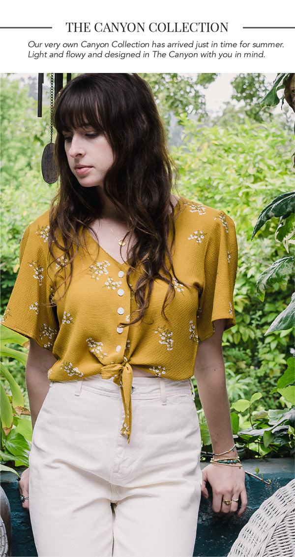 Canyon Collection Mustard Floral Top Shop The Vibe!