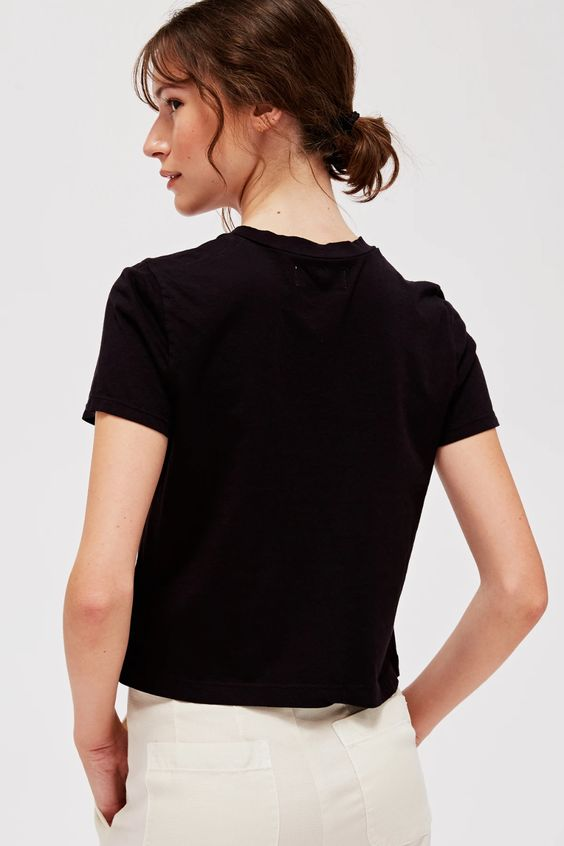 Luxe Foster Tee - Tar - The Canyon