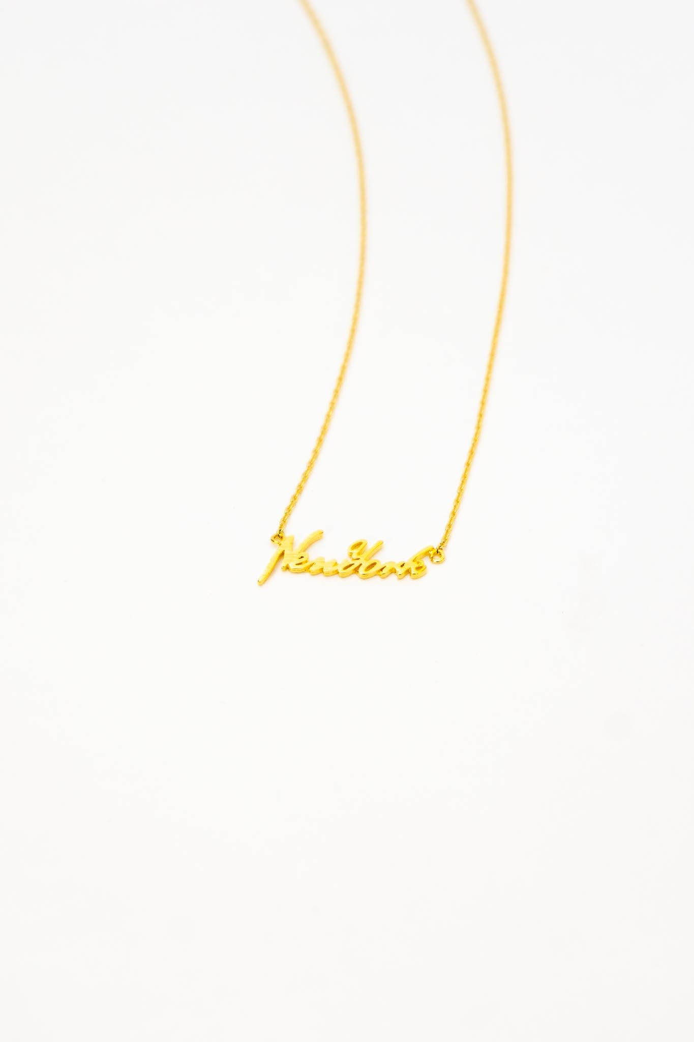 New York Script Necklace - The Canyon