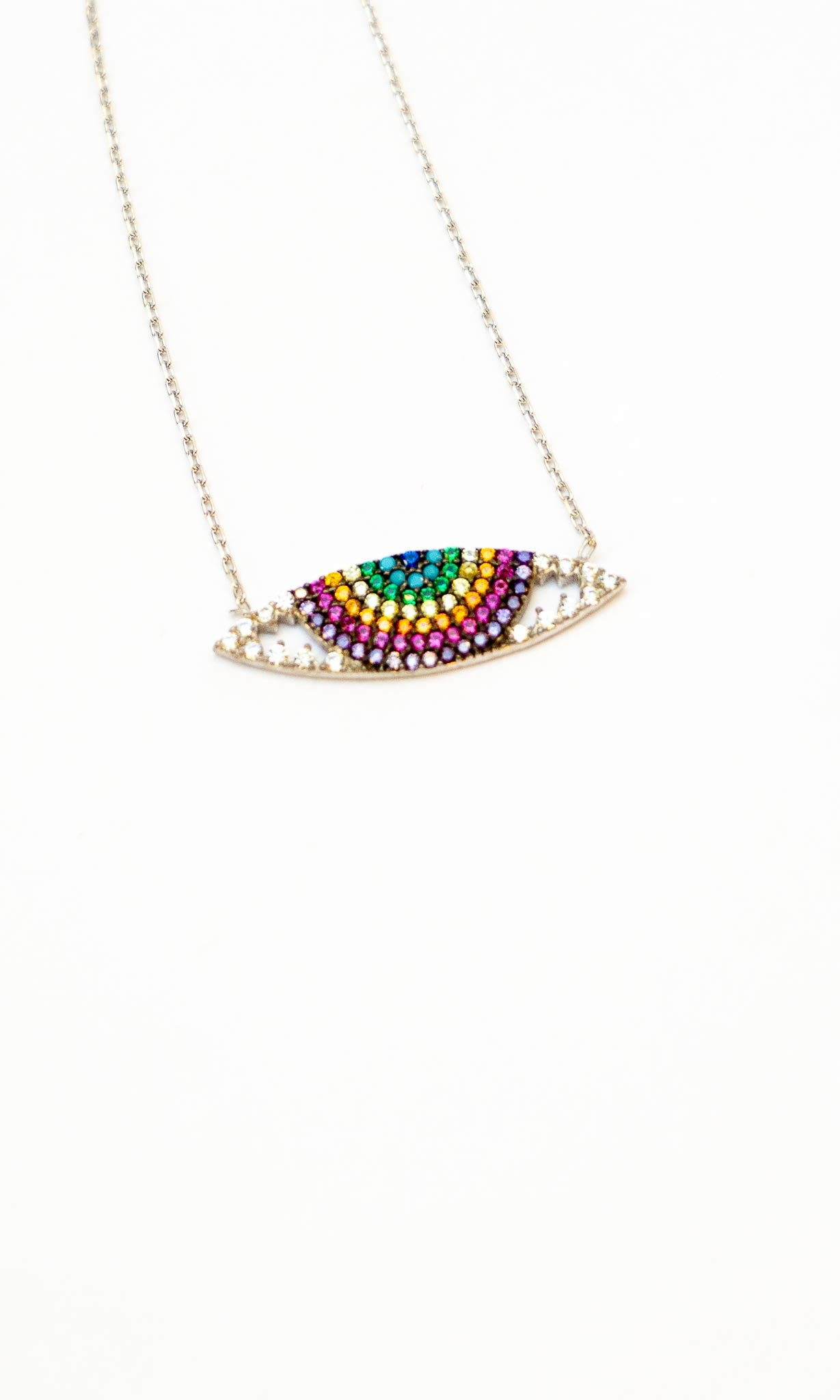 Rainbow Evil Eye Necklace - The Canyon
