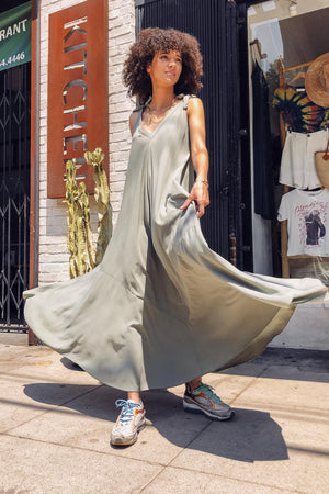 Tie Strap Maxi Dress - The Canyon