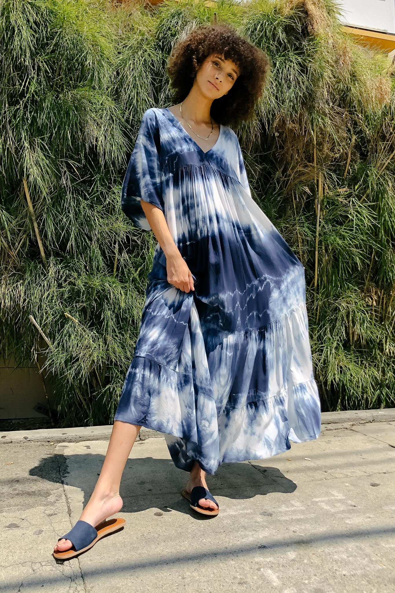 Bohemian Tie Dye Maxi Dress - The Canyon