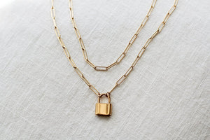 Monaco Lock Necklace - Large - The Canyon