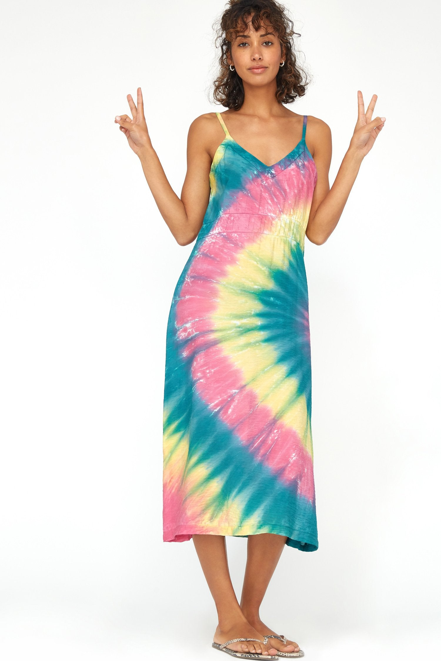 Alma Slip Dress - Cosmic Swirl
