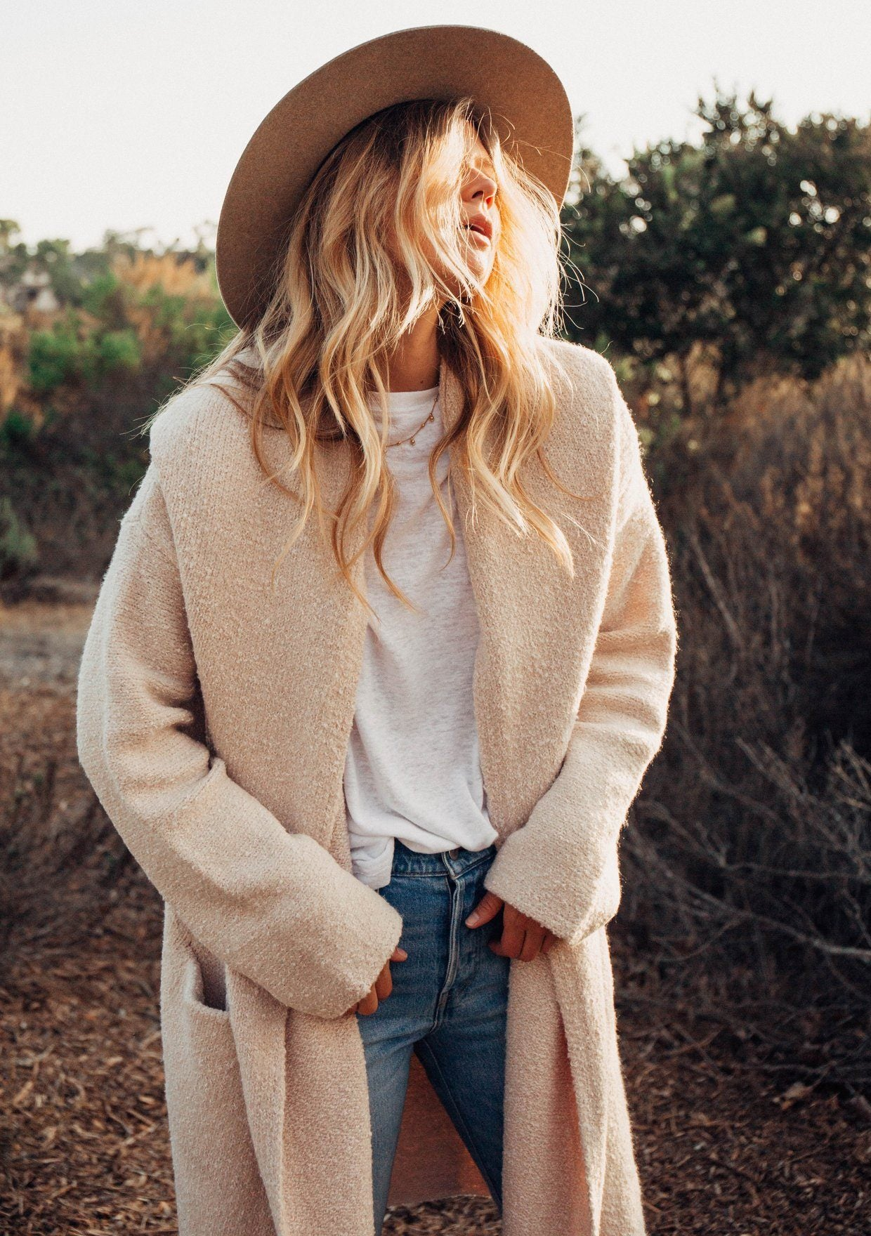Oversized Two Pocket Cardigan - The Canyon