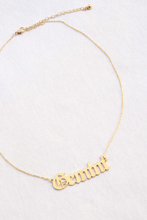 Astrology Script Necklace - The Canyon