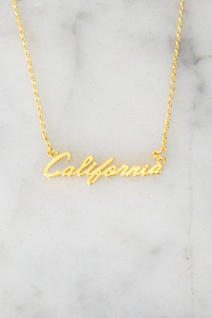 California Script Necklace - The Canyon