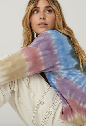 Autumn Tie Dye Long Sleeve Crop - The Canyon