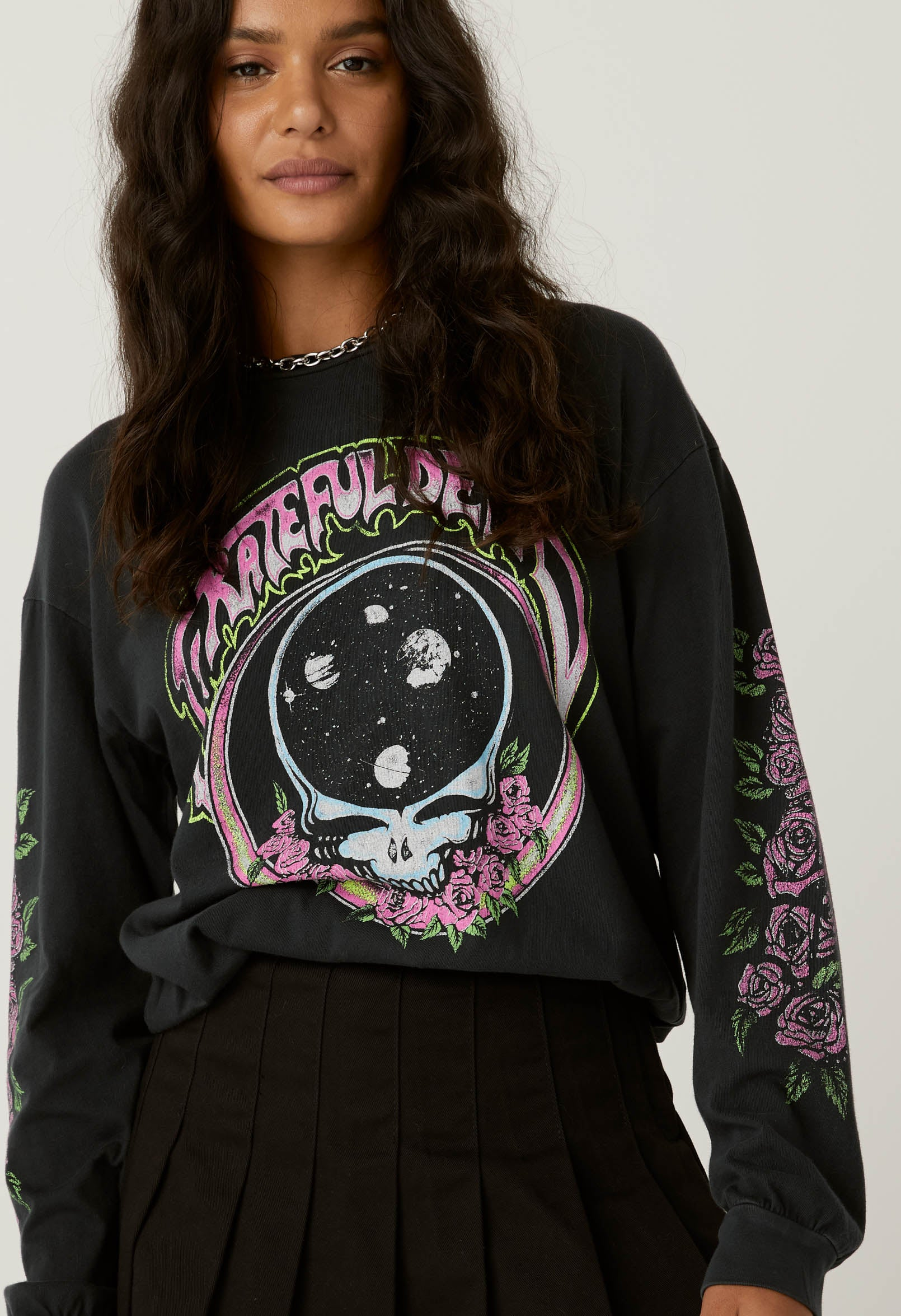 Grateful Dead Space Face Oversized Long Sleeve - The Canyon