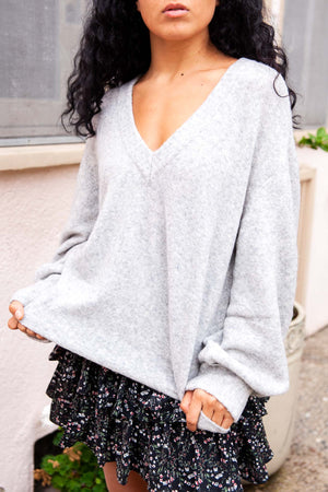 V Neck Soft Sweater - The Canyon