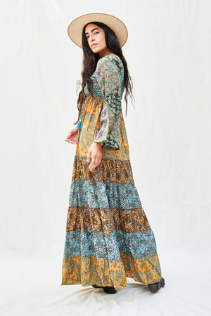 Printed Patchwork Dress - The Canyon