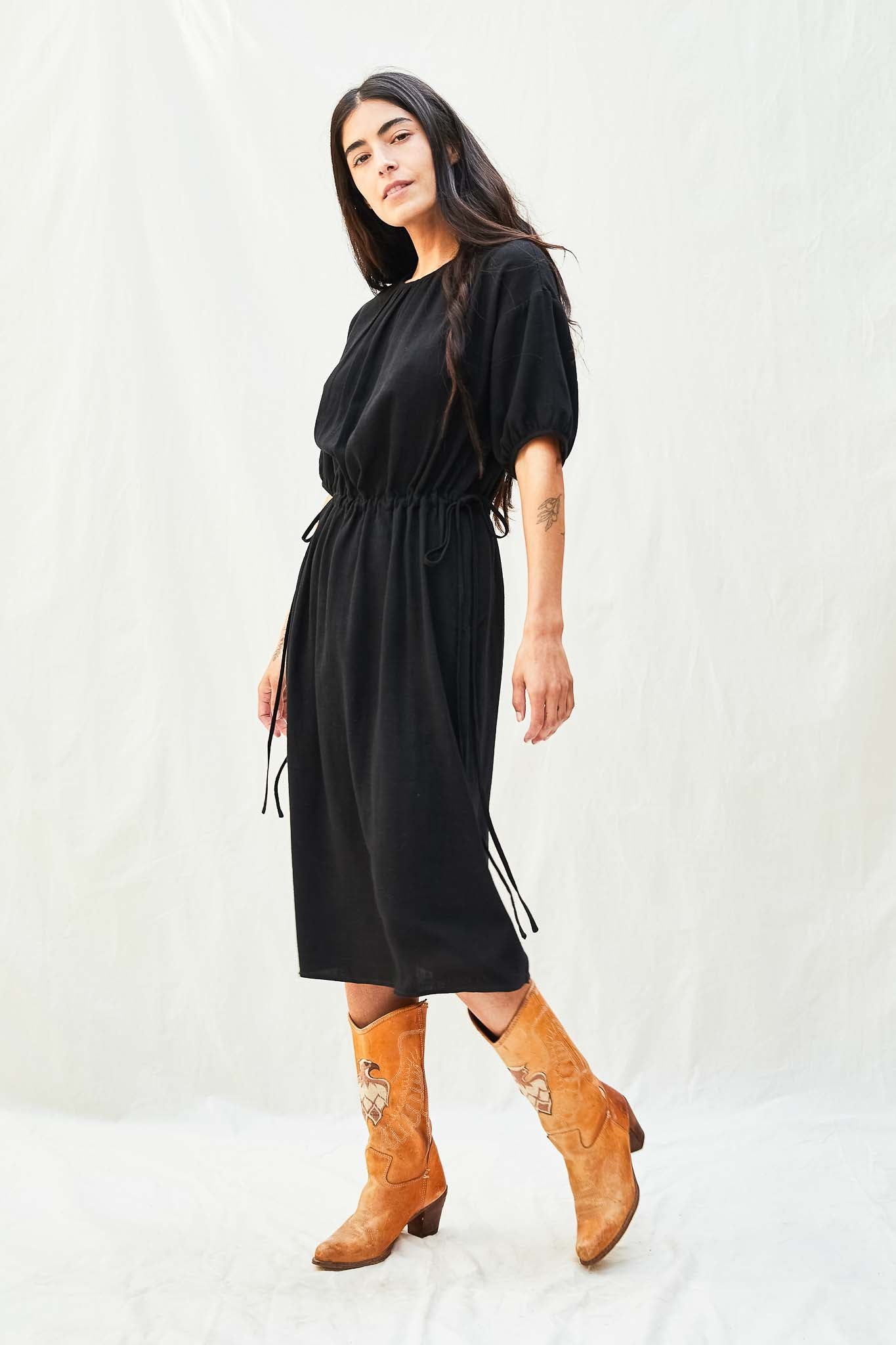 Easy Cinch Waist Dress - The Canyon