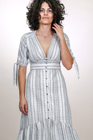 Gypset Stripe Midi Dress - The Canyon