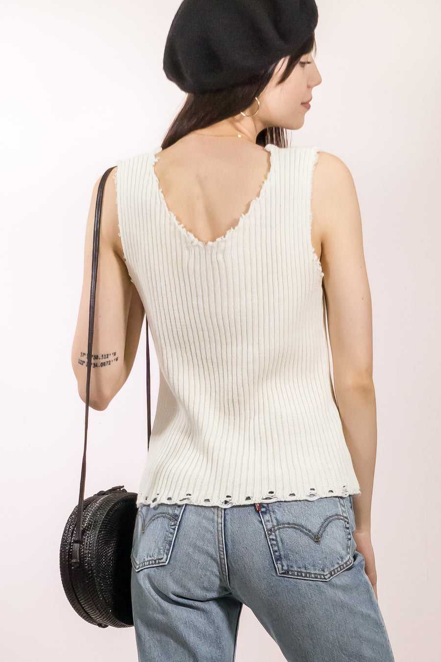 Knit Sleeveless Sweater Top - The Canyon