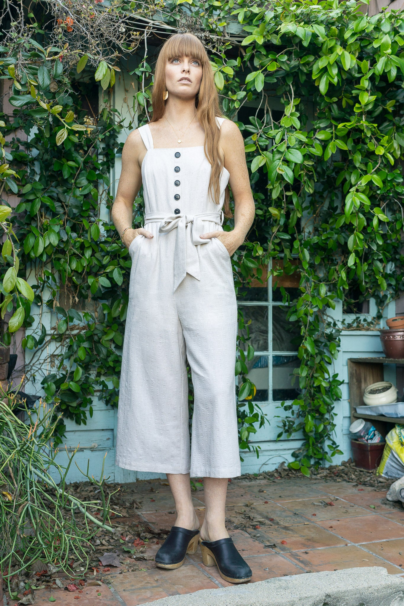 Martini Tie Front Jumpsuit - The Canyon