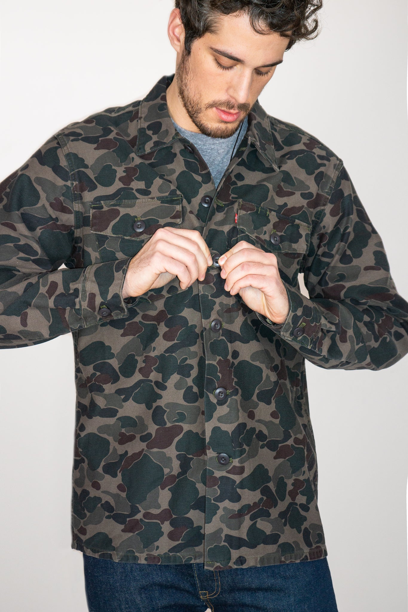 Camo Military Shacket - The Canyon