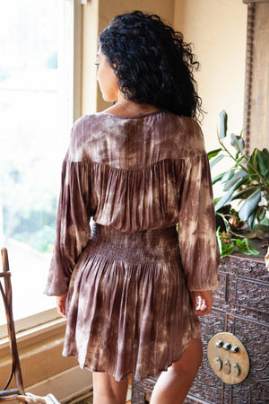 Lurex Tie Dye Smocked Dress - The Canyon
