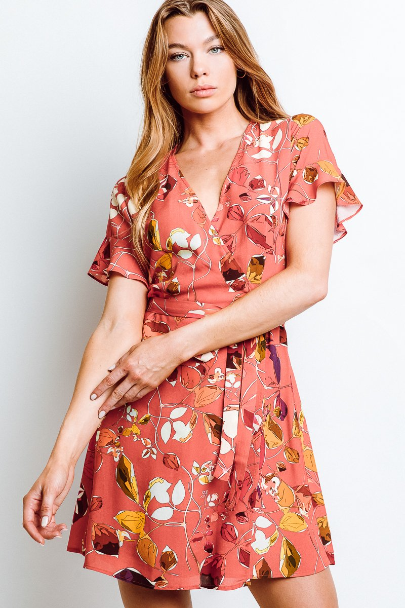 Kate Wrap Dress - The Canyon