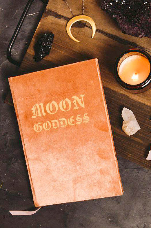 Moon Goddess Slim Velvet Journal - The Canyon