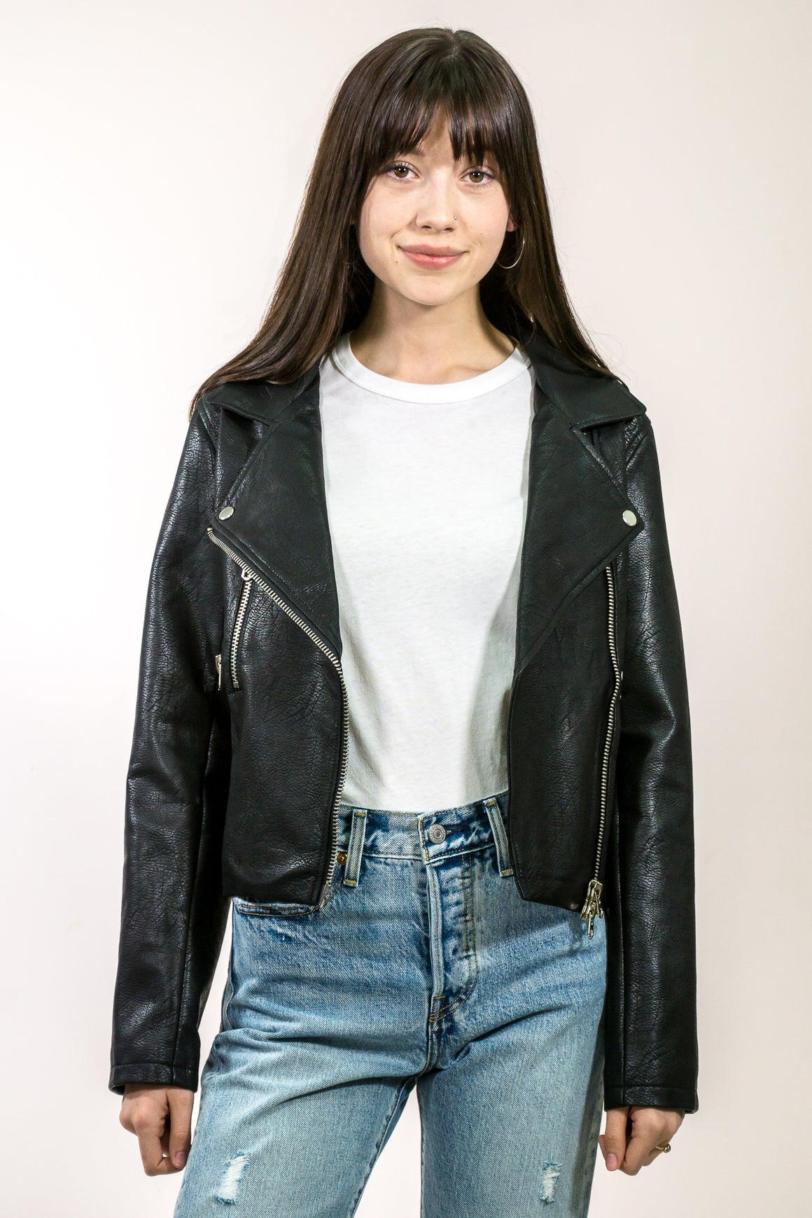 Vegan Leather Moto Jacket - The Canyon
