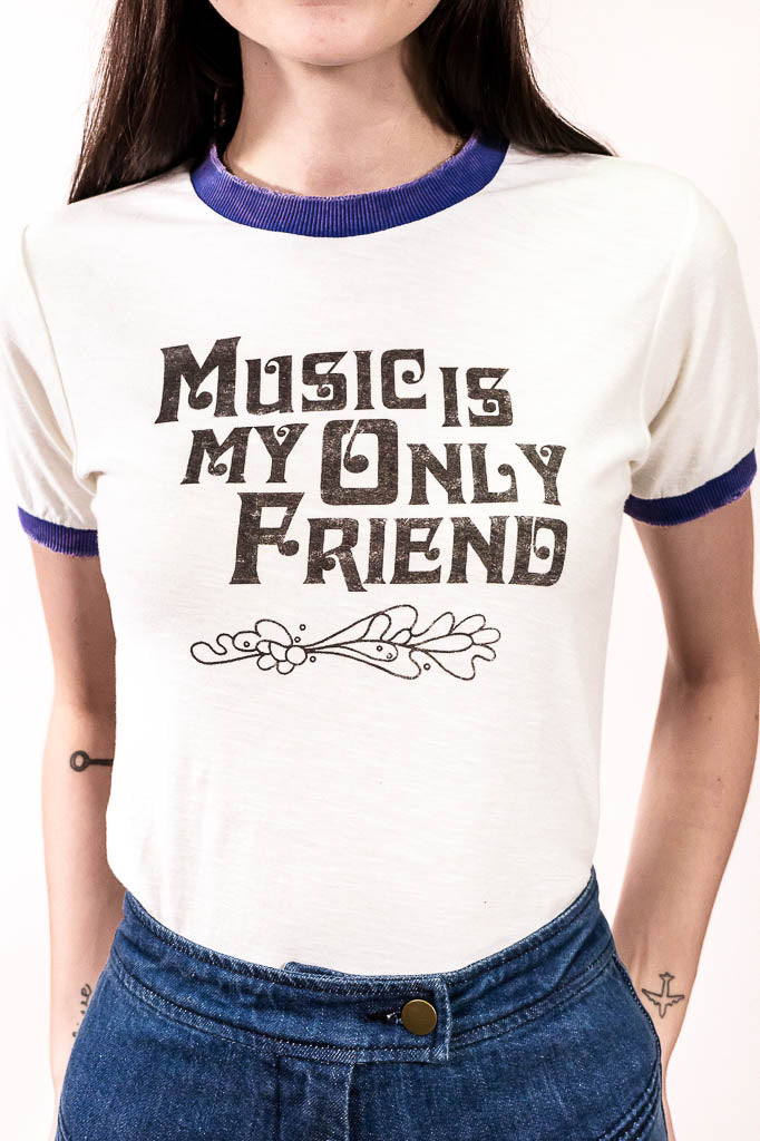 Music Is My Only Friend Tee - The Canyon