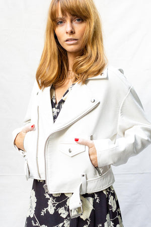Daya Moto Jacket - White Light - The Canyon