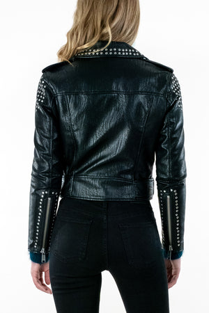 Tracy Studded Moto Jacket - The Canyon