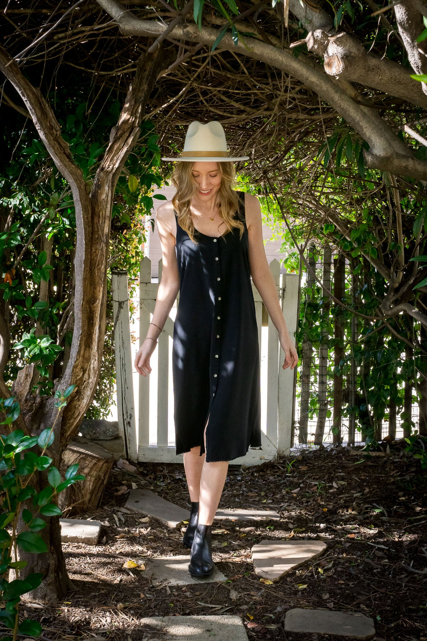 Reversible Silk Dress - The Canyon