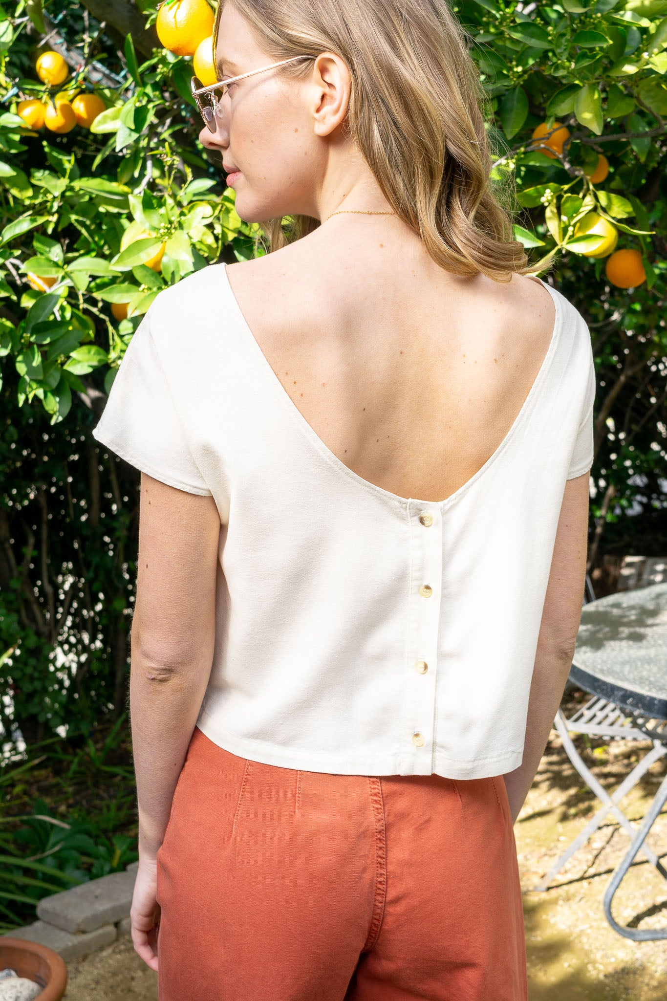 Reversible Silk Top - The Canyon