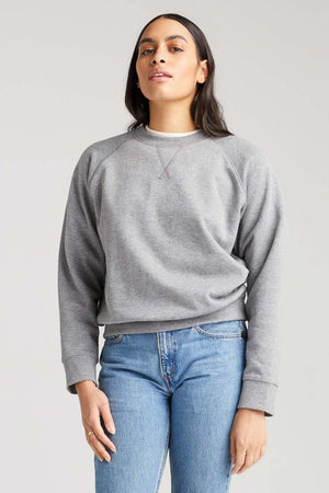 Recycled Crew Sweatshirt - Heather Grey - The Canyon