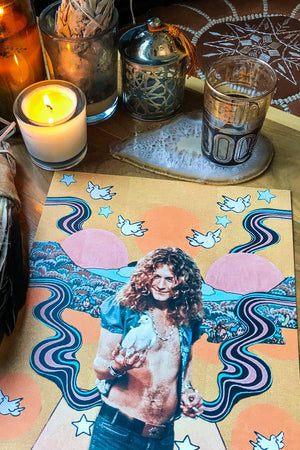 Robert Plant Print - The Canyon