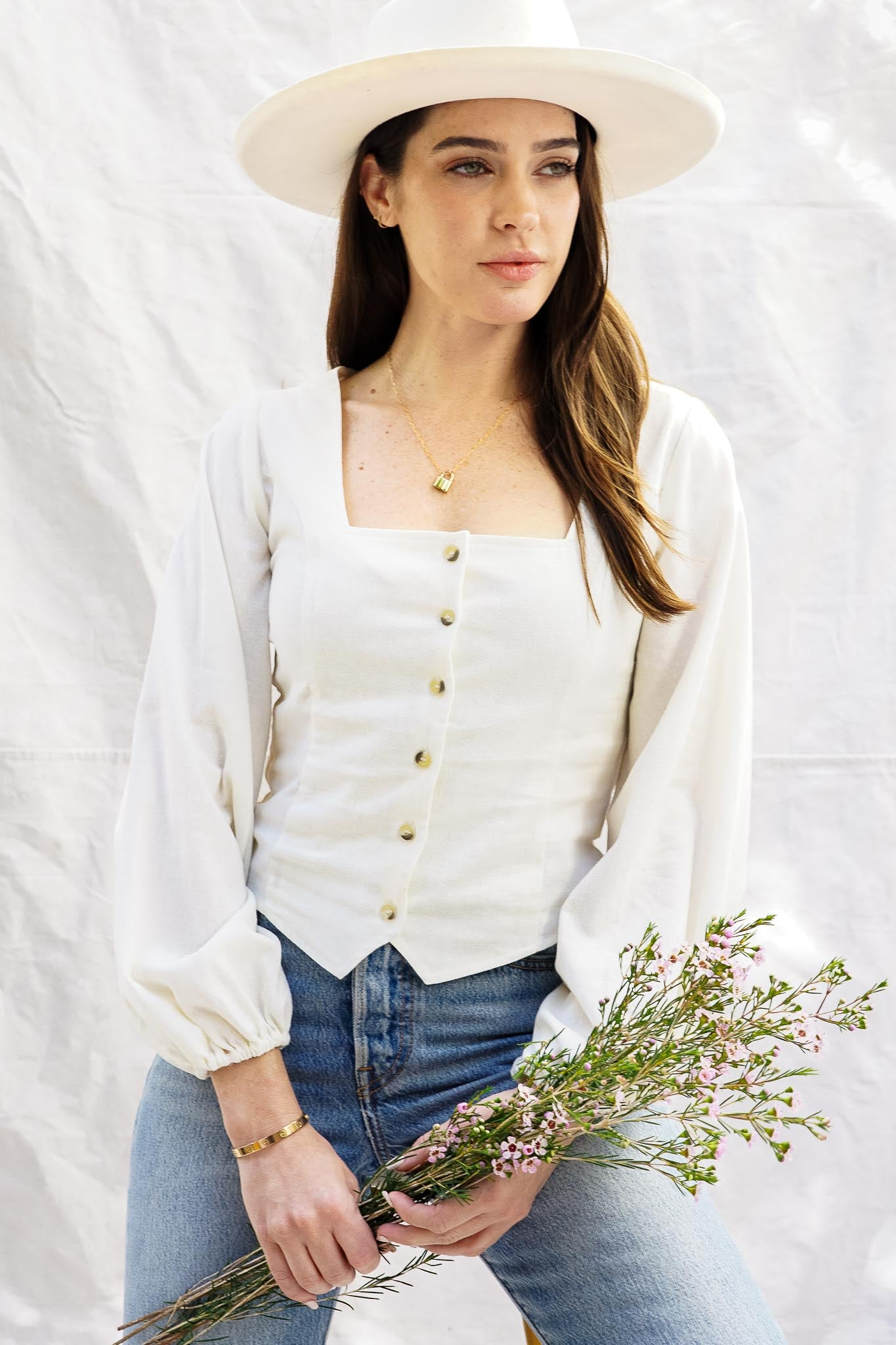Roxanne Linen Blouse - The Canyon