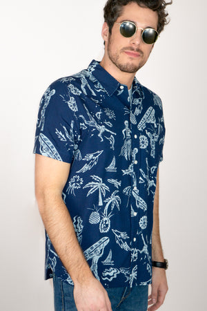 Short Sleeve Sunset Pocket Shirt - The Canyon