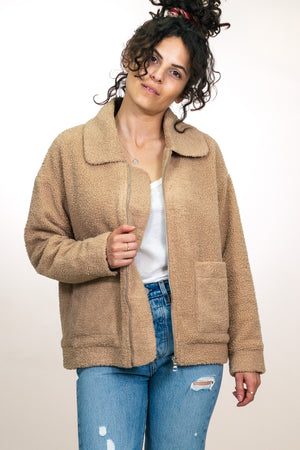 Soft Sherpa Zip Front Jacket - The Canyon