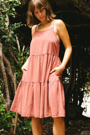 Tiered Tencel Mini Dress - The Canyon