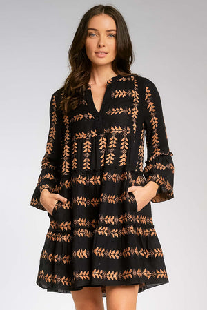 Charli Woven Arrow Print Dress - The Canyon