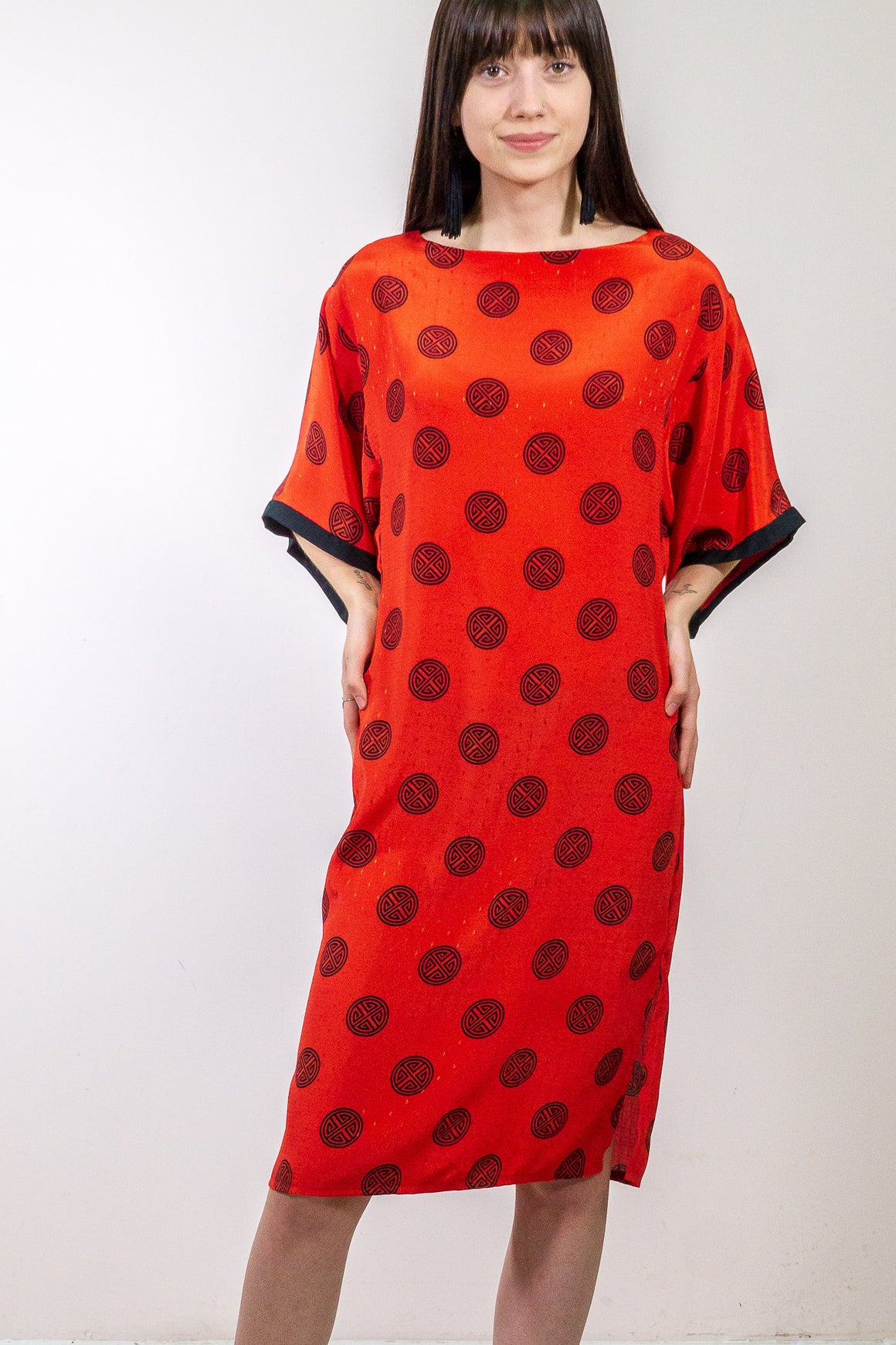 Vintage Asian Rayon Dress - The Canyon