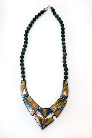 Vintage Mosaic Beaded Necklace - The Canyon