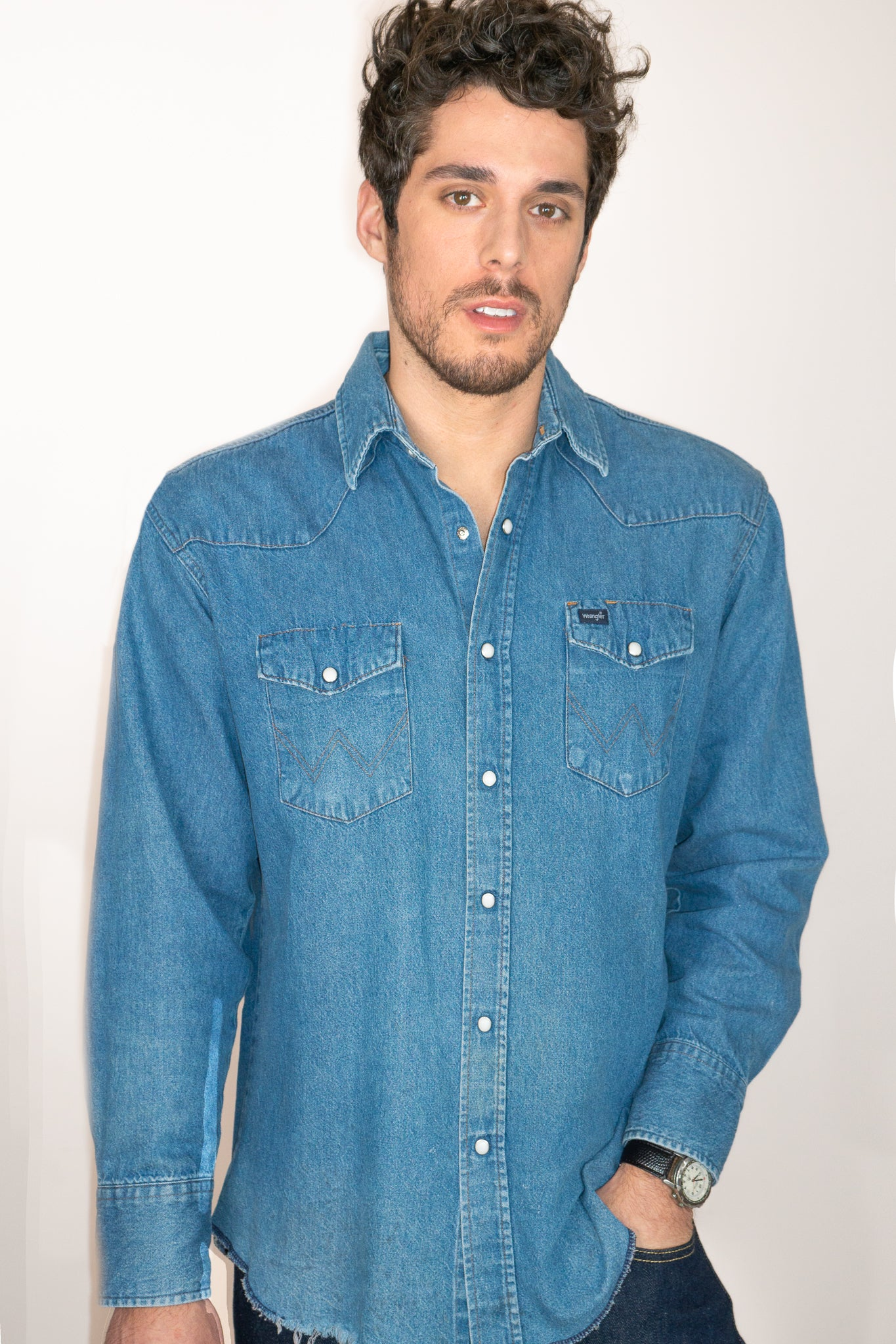 Vintage Wrangler Denim Shirt - The Canyon
