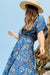 Vivian Wrap Dress - Blue Seashell - The Canyon